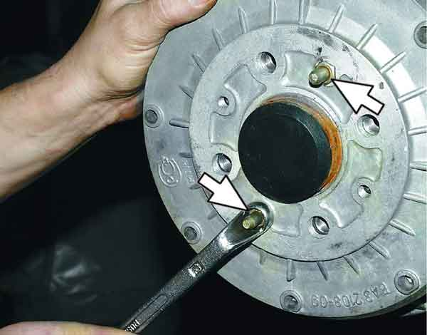 Снятие тормозного барабана 2110-2112