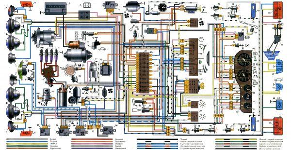 ВАЗ 2103 электрическая схема